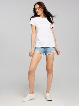 Levis Sequin Print Tee In White