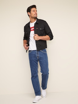 Levis Denim Jacket In Dark Horse Black