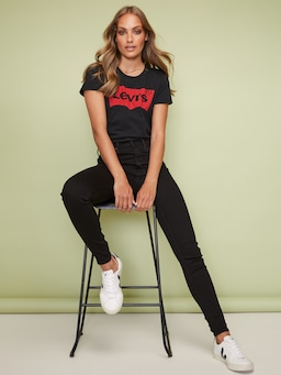 Levi's Mile High Super Skinny Jean In New Moon Black