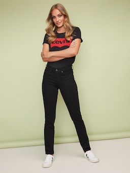 Levi 312 Slim Jean In Ultra Black