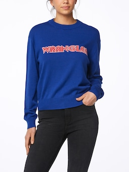 Wrangler Retro Graphic Sweat In Royal Blue