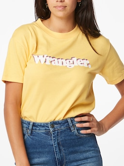 Wrangler Veda Tee In Soft Yellow