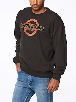 Wrangler Crew Sweat Worn Black