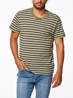 Wrangler Hall Tee Whisky Stripe