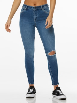 Wrangler Mid Pins Crop Dallas Blue