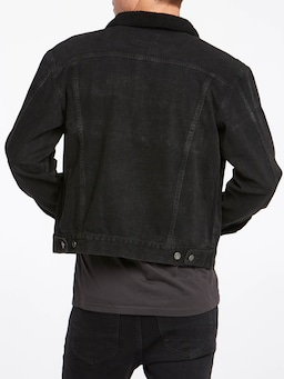 Riders By Lee Sherpa Trucker Jacket In Black