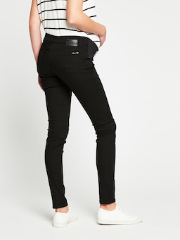 Mavi Reina Maternity Super Skinny Jean In Black