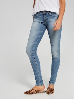 Mavi Alexa Skinny Jean In Light Gold Reform