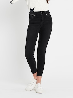 Mavi Lucy High Rise Skinny Jean In Smoke Black