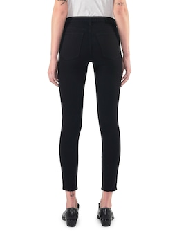 Neuw Bowery Skinny In Black Silk