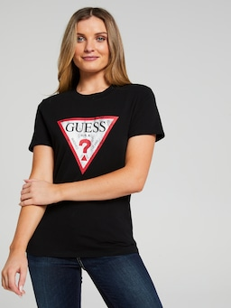 Guess Classic Tee In Black