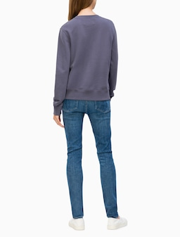 Calvin Klein Jeans Institutional Sweat In Grey