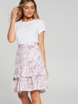Lilly Button Down Tiered Skirt