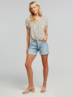 Libby Tie Front Tee