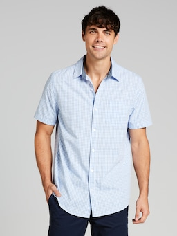 Poplin Marle Check Short Sleeve Shirt