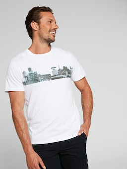 Ss Horizontal Photo City Tee
