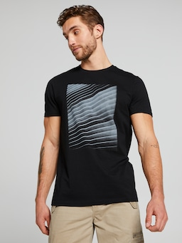 Short Sleeve Abstract Line Print Tee
