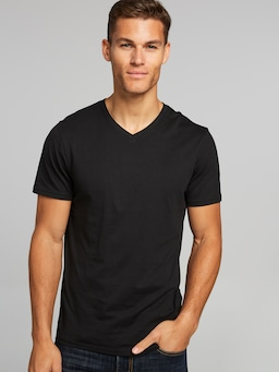 Basic V Neck Plain Tee