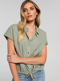 Shannon Tie Front Shirt