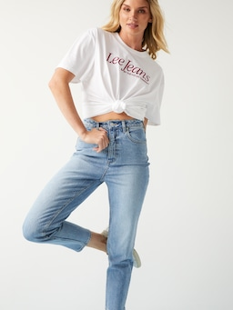 Lee High Mom Jean In Tenacity Blue